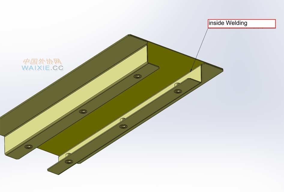不锈钢图纸4份,其它金属板,需要激光切割和激光焊接,请加我qq索取cad